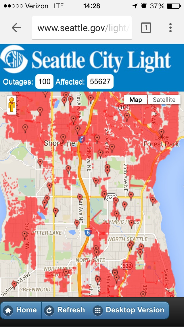 Power outages in North Seattle | News | City of Shoreline